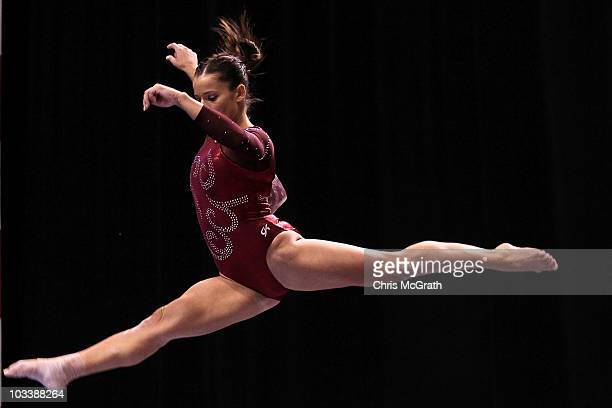 Alicia Sacramone competes on the beam during the Senior Women's AllAround competition on day four of the 2010 Visa Gymnastics Championships at the XL...