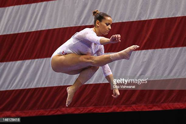 Alicia Sacramone competes on the beam during the Senior Women's competition on day four of the Visa Championships at Chaifetz Arena on June 10 2012...