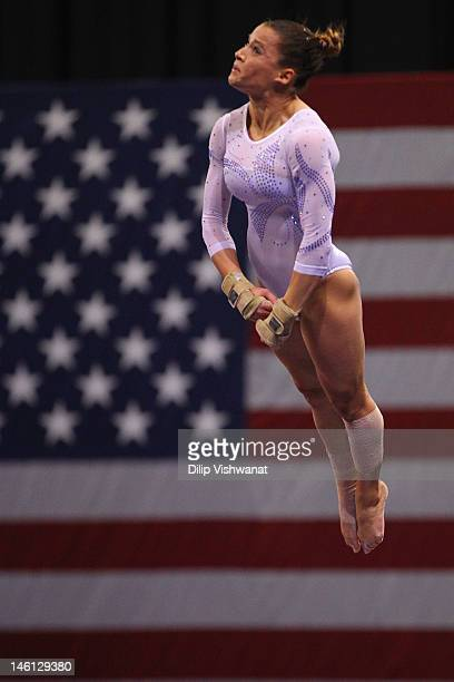 Alicia Sacramone competes on the vault during the Senior Women's competition on day four of the Visa Championships at Chaifetz Arena on June 10 2012...