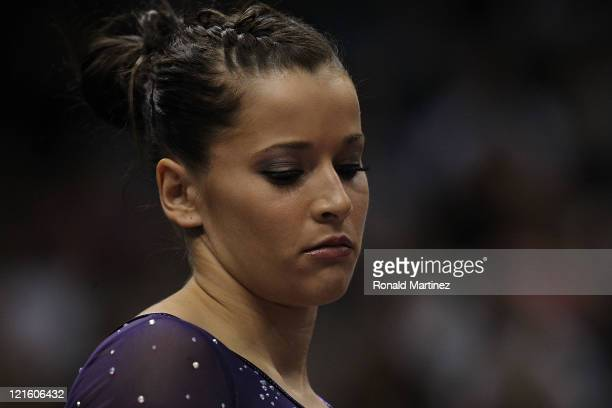 Alicia Sacramone during the Senior Women's competition on day four of the Visa Gymnastics Championships at Xcel Energy Center on August 20 2011 in St...