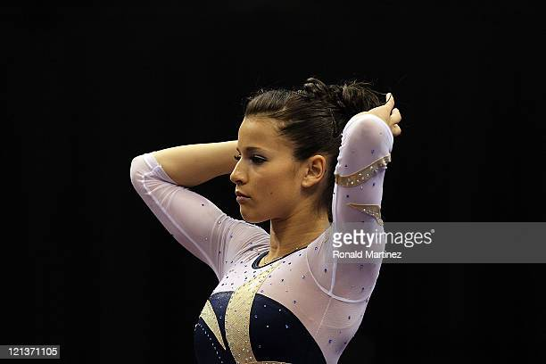 Alicia Sacramone during the Senior Women's competition on day two of the Visa Gymnastics Championships at Xcel Energy Center on August 18 2011 in St...