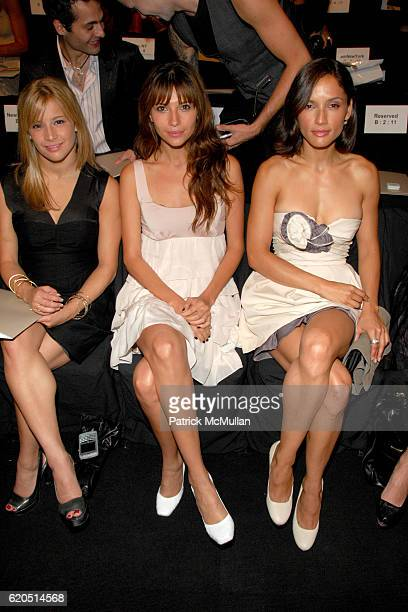 Alicia Sacramone Tamara Feldman and Leonora Varela attend BCBG MAX AZRIA Spring 2009 Fashion Show at In Tents on September 5 2008 in New York City