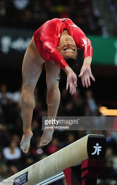Alicia Sacromone of USA competes on the Beam during the Women's team final at the 42nd Artistic Gymnastics World Championships at Ahoy on October 20...