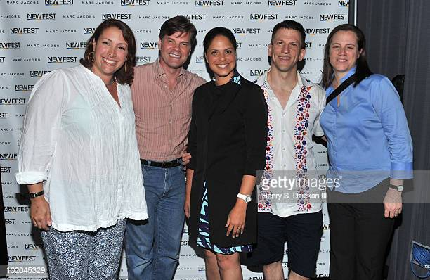 Alicia Salzer Anthony Brown CNN Anchor Soledad O'Brien Gary Spino and Leslie Miller attend a screening and QA for Gary And Tony Have A Baby a new...