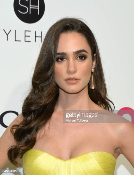 Alicia Sanz attends the 25th Annual Elton John AIDS Foundation's Academy Awards Viewing Party at The City of West Hollywood Park on February 26 2017...