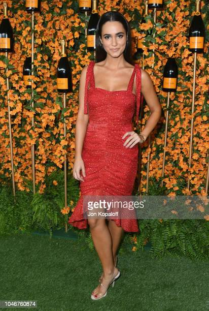 Alicia Sanz attends the 9th Annual Veuve Clicquot Polo Classic Los Angeles at Will Rogers State Historic Park on October 6 2018 in Pacific Palisades...