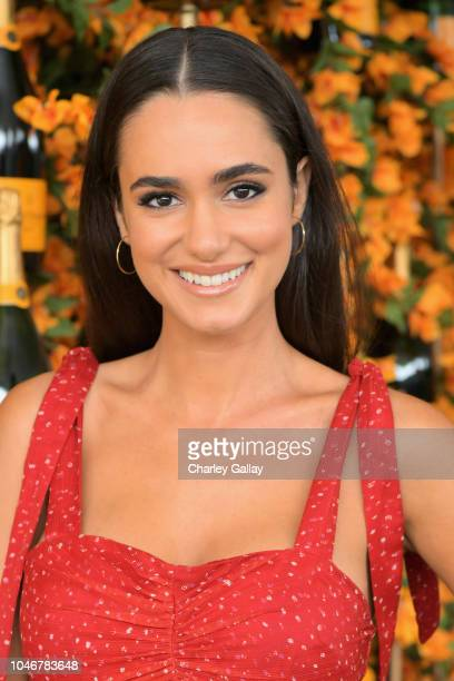 Alicia Sanz attends the NinthAnnual Veuve Clicquot Polo Classic Los Angeles at Will Rogers State Historic Park on October 6 2018 in Pacific Palisades...
