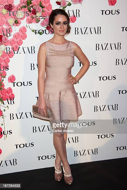 """Alicia Sanz attends the presentation of the new fragance """"Rosa"""" at the Ritz Hotel on April 23, 2013 in Madrid, Spain."""