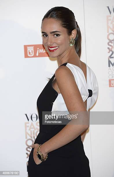 Alicia Sanz attends the Vogue Fashion's Night Out Madrid 2014 on September 18 2014 in Madrid Spain