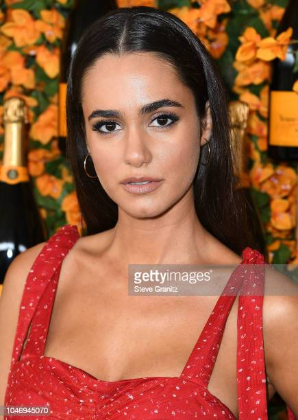 Alicia Sanz varrives at the 9th Annual Veuve Clicquot Polo Classic Los Angeles at Will Rogers State Historic Park on October 6 2018 in Pacific...