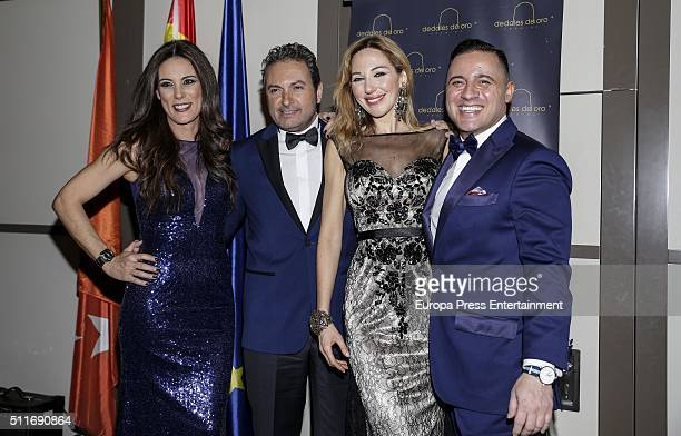 Alicia Senovilla Albert Castillon and Ania Iglesias atttend the delivery of 'Dedales de Oro' Award 2016 to Petro Valverde on February 19 2016 in...