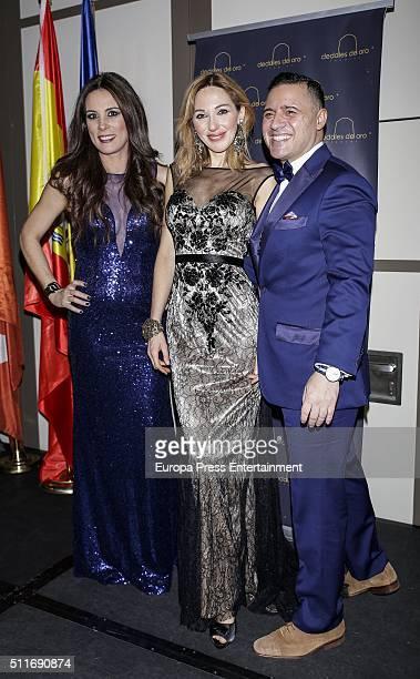 Alicia Senovilla and Ania Iglesias atttend the delivery of 'Dedales de Oro' Award 2016 to Petro Valverde on February 19 2016 in Madrid Spain