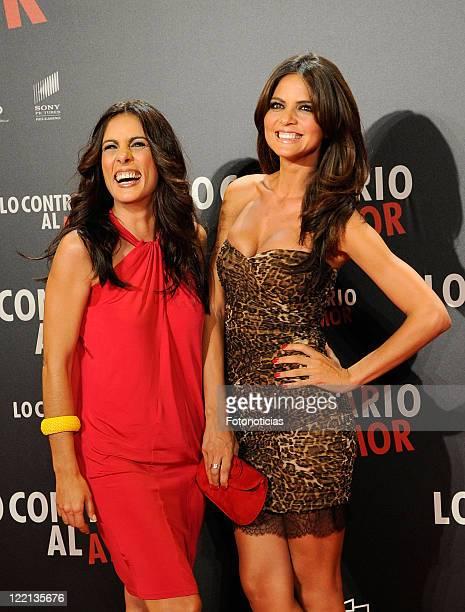 Alicia Senovilla and Romina Belluscio attend the premiere of 'Lo Contrario al Amor' at Callao Cinema on August 25 2011 in Madrid Spain