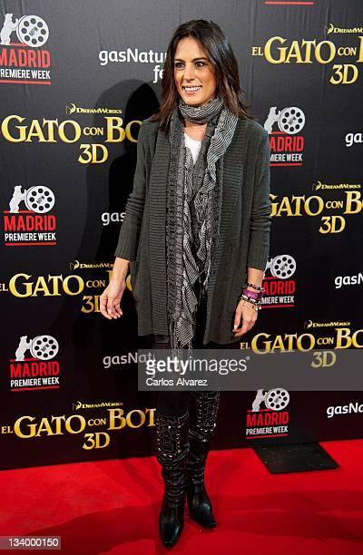 Alicia Senovilla attends 'El Gato con Botas' premiere at the Callao cinema on November 23 2011 in Madrid Spain