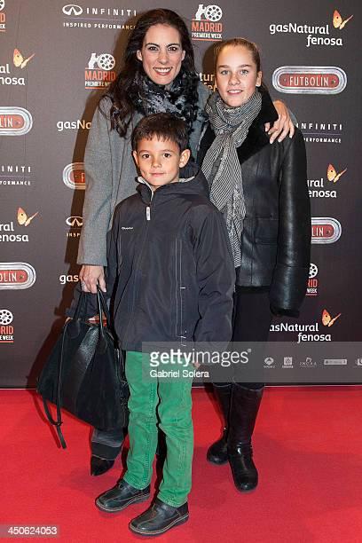 Alicia Senovilla attends 'Futbolin' Madrid Premiere at Callao cinema on November 19 2013 in Madrid Spain