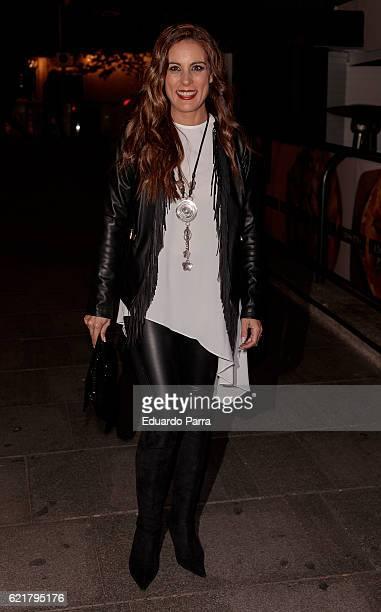 Alicia Senovilla attends the Carmen Borrego birthday party on November 8 2016 in Madrid Spain