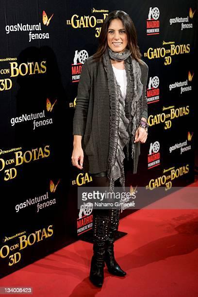 Alicia Senovilla attends the 'Puss in Boots' premiere at the Callao cinema on November 23 2011 in Madrid Spain
