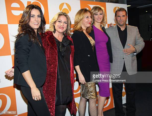 Alicia Senovilla Susanna Griso and Miguel Temprano attend 'Espejo Publico' 2012 Awards on January 26 2012 in Madrid Spain