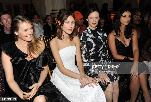 Alicia Silverstone Alexa Chung Juliette Lewis and Morena Baccarin attend the Christian Siriano show during New York Fashion Week The Shows at The...