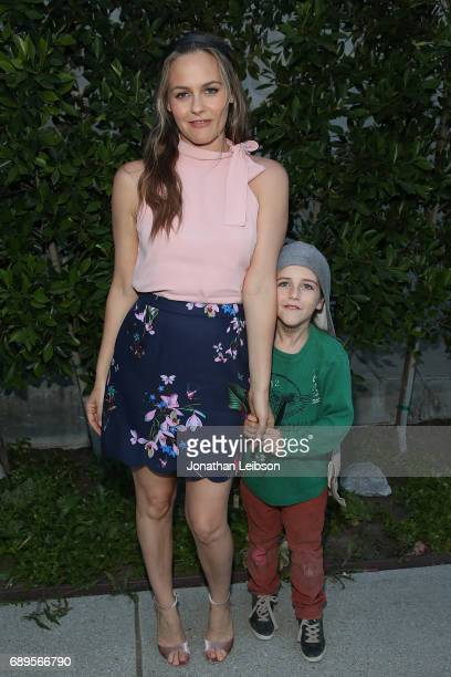 Alicia Silverstone and Bear Blu Jarecki attend the Cinespia Presents 'Clueless' At The Hollywood Forever Cemetery at Hollywood Forever on May 28 2017...