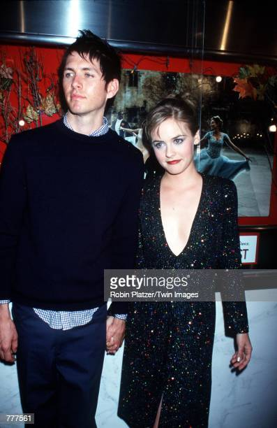 Alicia Silverstone and Chris Jarecki attend the premiere of the new movie 'Love's Labour's Lost' June 5 2000 in New York City