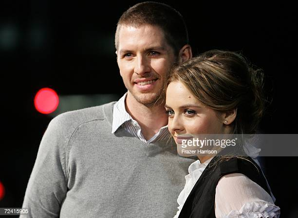Alicia Silverstone and Christopher Jarecki arrive at the Paramount Vantage premiere of 'Babel' held at the FOX Westwood Village theatre on November 5...