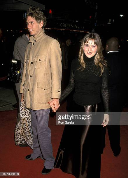 Alicia Silverstone and Christopher Jarecki during 'The Talented Mr Ripley' Los Angeles Premiere at Mann Village Theatre in Westwood California United...