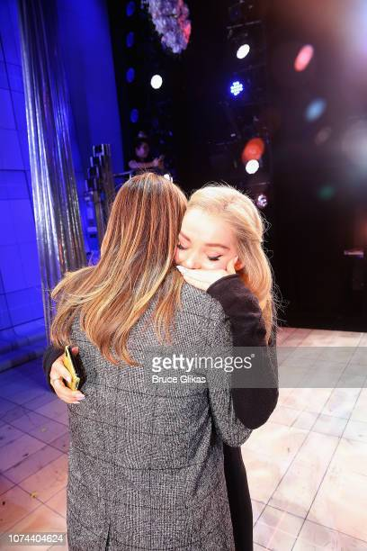 Alicia Silverstone and Dove Cameron meet backstage at The New Group production of 'Clueless The Musical' based on the iconic 1995 film at The...