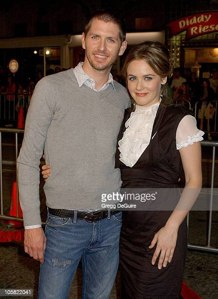 Alicia Silverstone and Husband Chris Jarecki during 'Babel' Los Angeles Premiere Arrivals at Mann Village Theatre in Westwood California United States