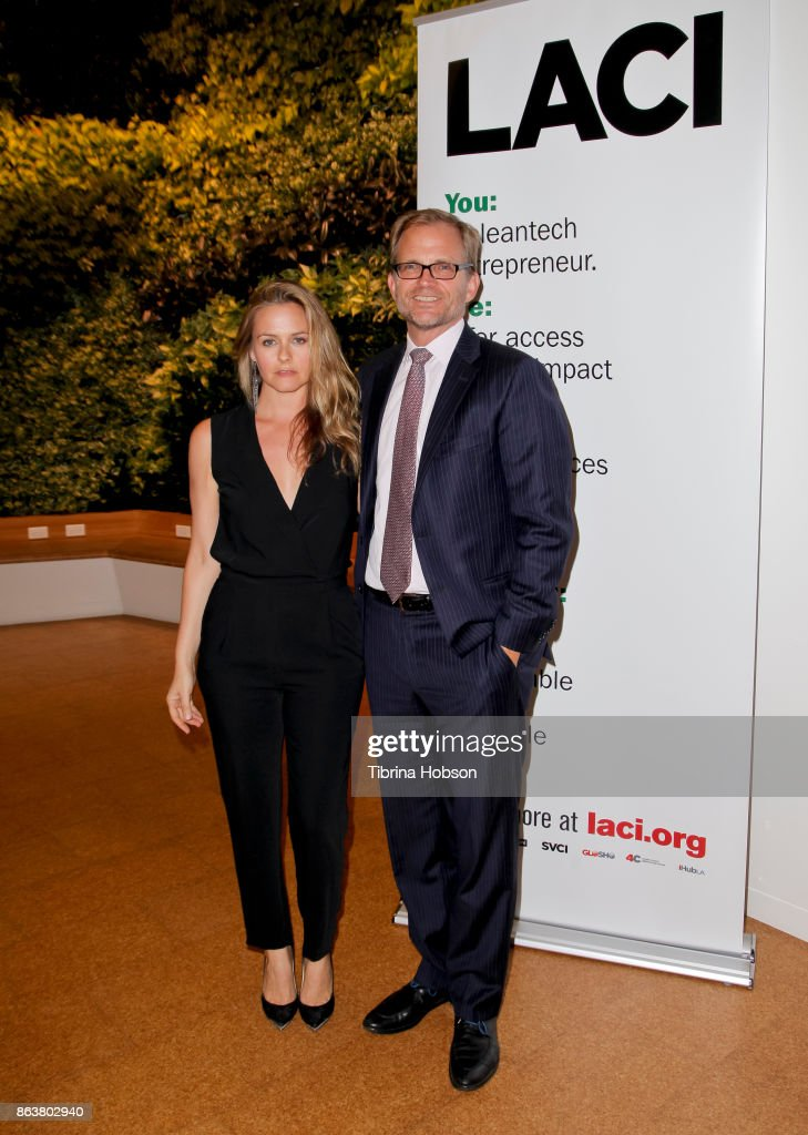 Alicia Silverstone and Matt Petersen attend the Los Angeles Cleantech Incubator celebration of new CEO Matt Petersen on October 19, 2017 in Los Angeles, California.