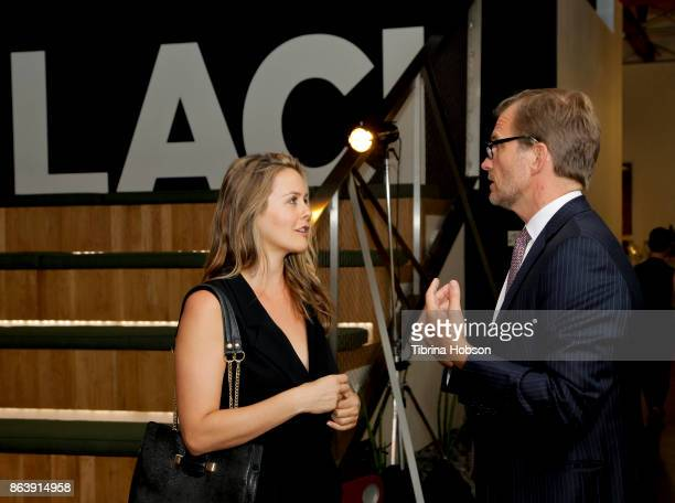 Alicia Silverstone and Matt Petersen attend the Los Angeles Cleantech Incubator celebration of new CEO Matt Petersen on October 19 2017 in Los...