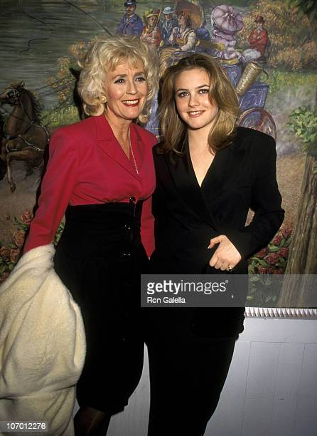 Alicia Silverstone and Mother Didi Silverstone during 1996 National Board of Review Awards Dinner at Tavern on the Green in New York City New York...