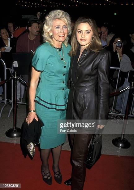 Alicia Silverstone and Mother Didi Silverstone during Diabolique Premiere at Cineplex Odeon Theater in Century City California United States