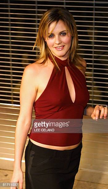 Alicia Silverstone arrives for a party celebrating the release of Mick Jagger's new solo album 'Goddess in the Doorway' 15 November 2001 in Los...