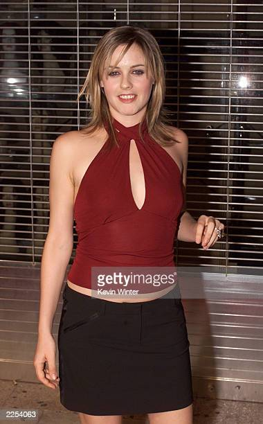 Alicia Silverstone at the El Rey Theater in Los Angeles to help Mick Jagger celebrate the release of his new solo album Goddess in the Doorway with a...