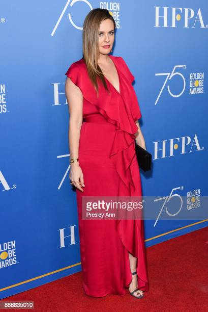 Alicia Silverstone attends Hollywood Foreign Press Association Hosts Annual Holiday Party And Golden Globes 75th Anniversary Special Screening...