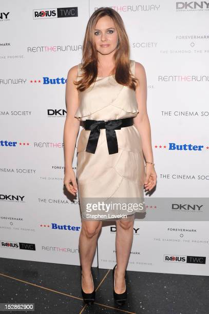 Alicia Silverstone attends The Cinema Society with DKNY Forevermark RentTheRunwaycom premiere of Butter at AMC Lincoln Square Theater on September 27...