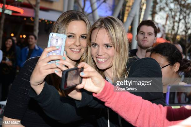Alicia Silverstone attends the Film Independent's prefestival outdoor screening of 'Clueless' at LA LIVE on May 6 2014 in Los Angeles California