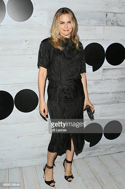 Alicia Silverstone attends the go90 Sneak Peek held at the Wallis Annenberg Center for the Performing Art on September 24 2015 in Beverly Hills...
