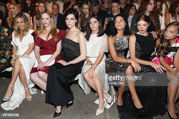 Alicia Silverstone, Christina Hendricks, Laura Prepon, Isabelle Fuhrman, Leigh Lezark, Nicole LaLiberte and Maddie Ziegler attend the Christian...