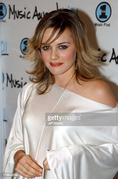 Alicia Silverstone during 2001 My VH1 Awards Arrivals at Shrine Auditorium in Los Angeles California United States