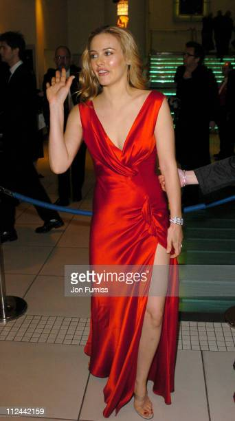 Alicia Silverstone during 2004 BAFTA Awards Inside Arrivals at The Odeon Leicester Square in London United Kingdom