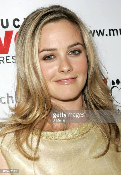 Alicia Silverstone during 4th Annual Much Love Animal Rescue Celebrity Comedy Benefit Red Carpet at The Laugh Factory in Hollywood California United...