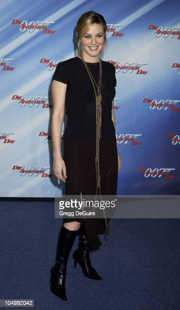Alicia Silverstone during 'Die Another Day' Los Angeles Premiere at Shrine Auditorium in Los Angeles California United States