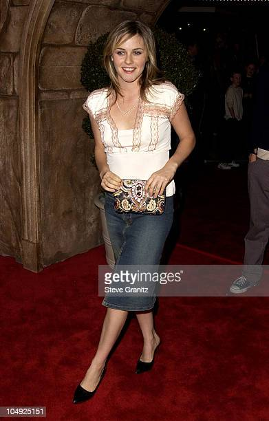 Alicia Silverstone during Harry Potter and The Sorcerer's Stone Los Angeles Premiere at Mann Village Theatre in Westwood California United States