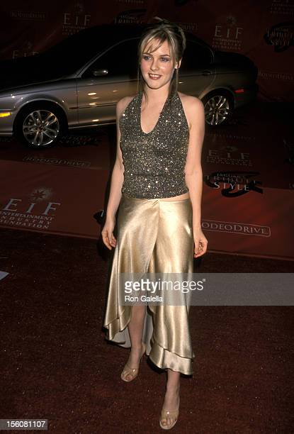 Alicia Silverstone during Marc Anthony Pilots Jaguar's Tribute To Style March 18 2001 at Barker Hangar in Santa Monica California United States