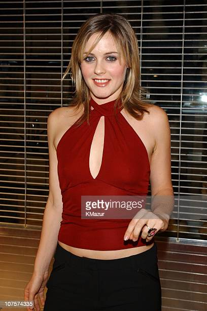 Alicia Silverstone during Mick Jagger Celebrates Release of New Solo Album Goddess in the Doorway Arrivals Party at The El Rey Theater in Los Angeles...