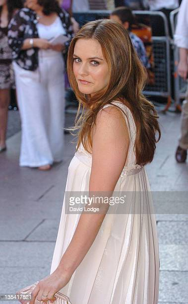 Alicia Silverstone during Stormbreaker London Premiere at Vue West End in London Great Britain