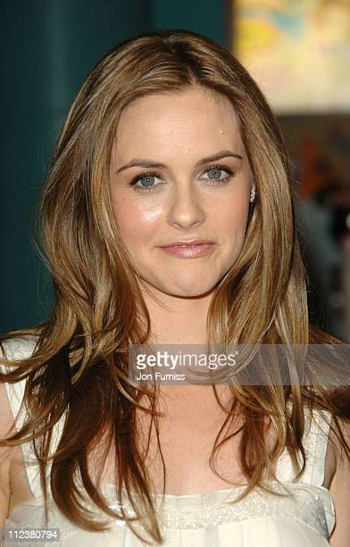 Alicia Silverstone during Stormbreaker London Premiere Inside Arrivals at Vue West End in London Great Britain