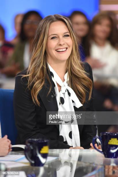 AMERICA Alicia Silverstone is a guest on Good Morning America on Tuesday June 5 2018 airing on the Walt Disney Television via Getty Images Television...